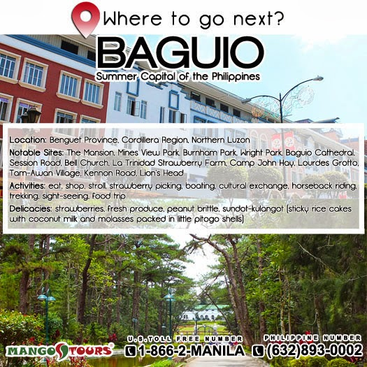 Mango Tours Where to go next Baguio Philippines