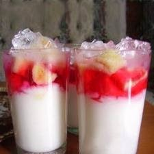 resep minuman es, resep es santan tape singkong, cara membuat es santan enak, cara bikin es santan segar dan mudah.