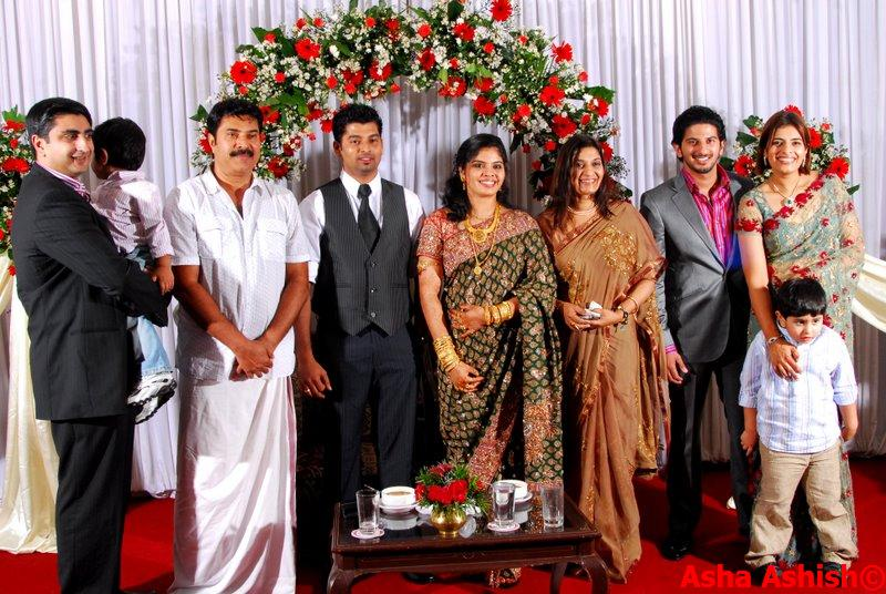 superstar mammootty brother ibrahimkutty daughter wedding photos