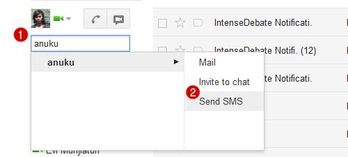 layanan sms gratis google