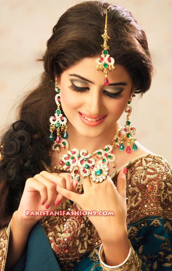Pakistani Actress Sajal Ali Bridal Dresses Photos