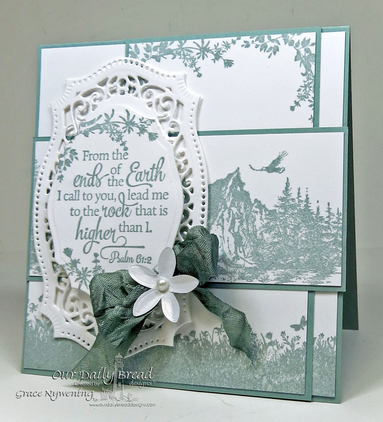 Stamps - Our Daily Bread Designs Scripture Collection 12, Keep Climbing, Bird Borders and Corners, ODBD Elegant Oval Die
