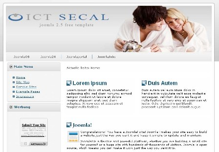 Free ICT Secal Joomla 2.5 Template