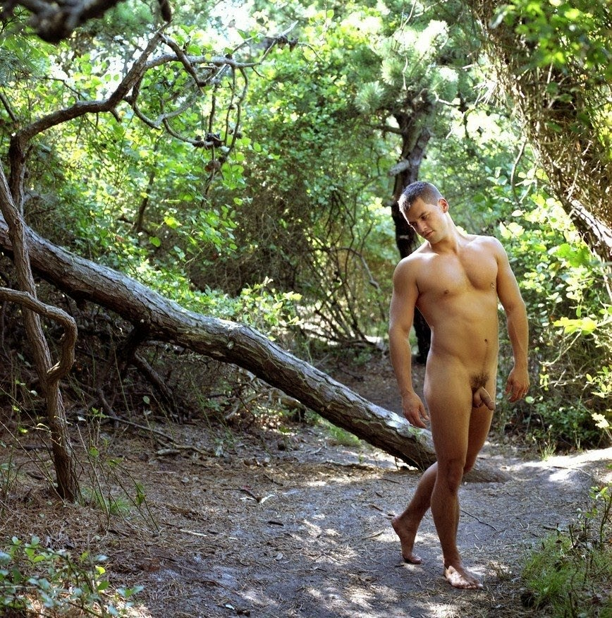 nude the Boys in woods
