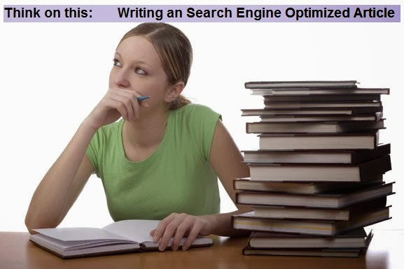 Write Search Engine Optimised SEO Article