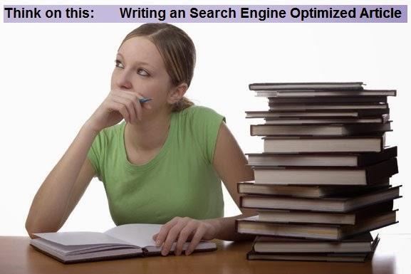 Write Search Engine Optimised SEO Article