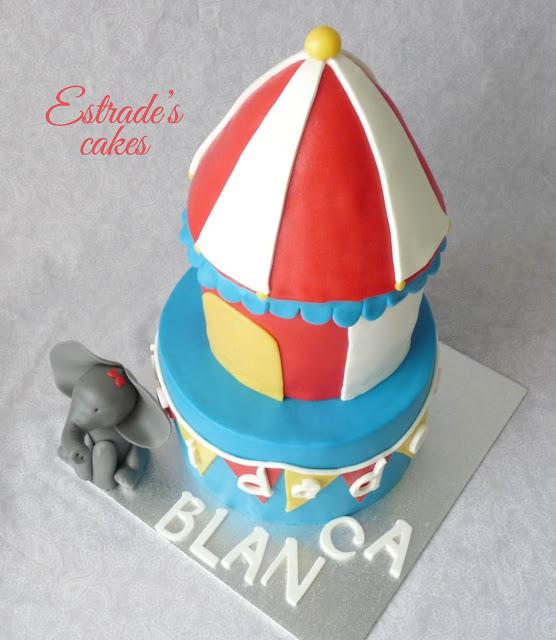 tarta circo con fondant 5