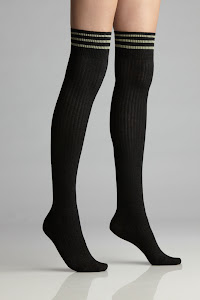 Cotton Railroad Stripe Hi-Knee Hi