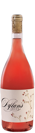Rose wine with white lable
