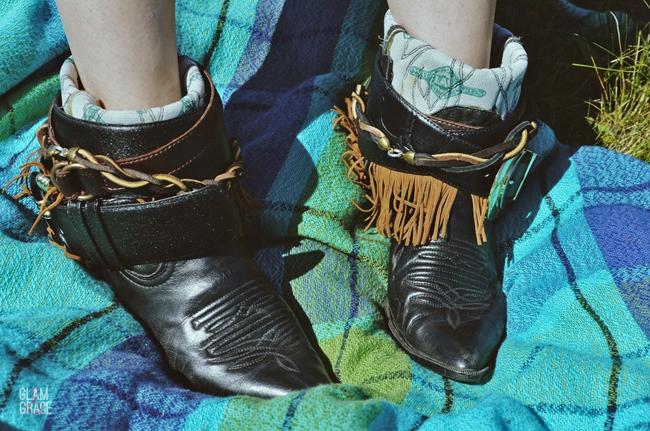 DIY vintage boot accessorize