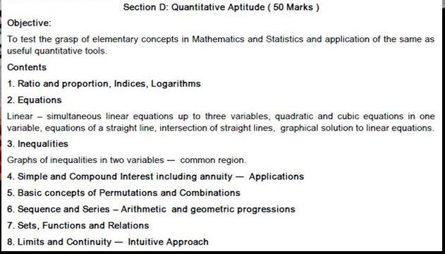 CA CPT SYLLABUS QUANTITATIVE APTITUDE