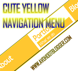 Cute Yellow Navigation Menu Bar Widget For Blogger