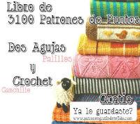 Libro de 3100 patrones motivos dos agujas y crochet