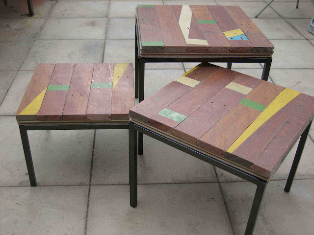 recycled wood klubbo table