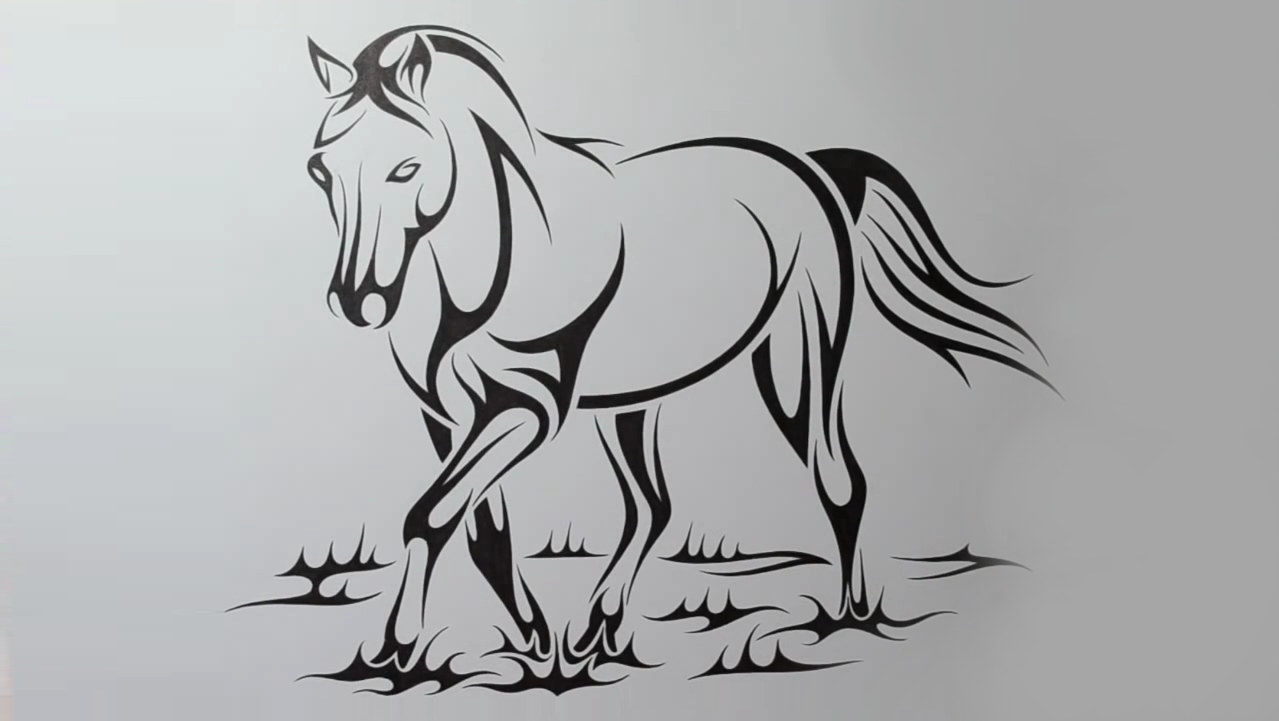 How To Draw A Horse Step By Step 4