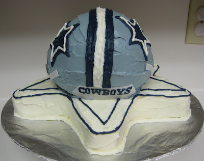 3D Dallas Cowboys Football Helmet Cake - Back View