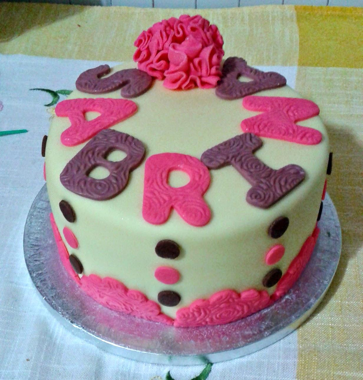 torta per il compleanno di sabrina