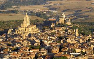 Vista aérea de Segovia