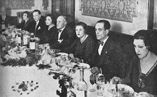 Homenaje a los ajedrecistas Plácido Soler y Josep Albert en marzo de 1932