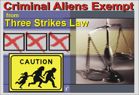 three strikes law Striking out: california's three strikes and you're out law has not reduced violent crime a 2011 update by mike males, phd senior research fellow, center on juvenile and criminal justice.