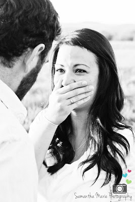 crying during proposal in black and white