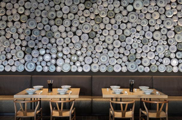 In design magz modern restaurant interior minimalist design with wall decoration ideas - Restaurant wall decor ideas ...