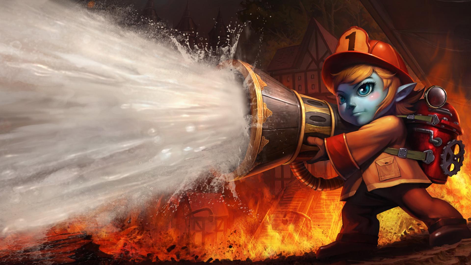 Tristana Firefighter Skin 9e HD Wallpaper