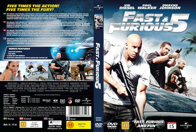 Fast Furious Five Blu-Ray DVD Cover.