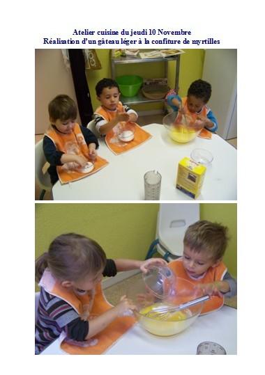 Cr che petit bouchon atelier cuisine 10 novembre 2011 - Atelier cuisine en creche ...