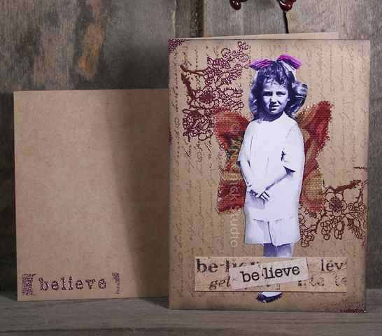 Believe Altered Art Notecard