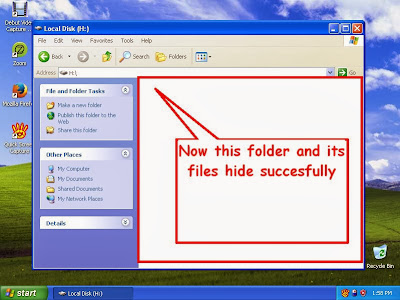 Learn how to hide files and folders in windowsXP step15