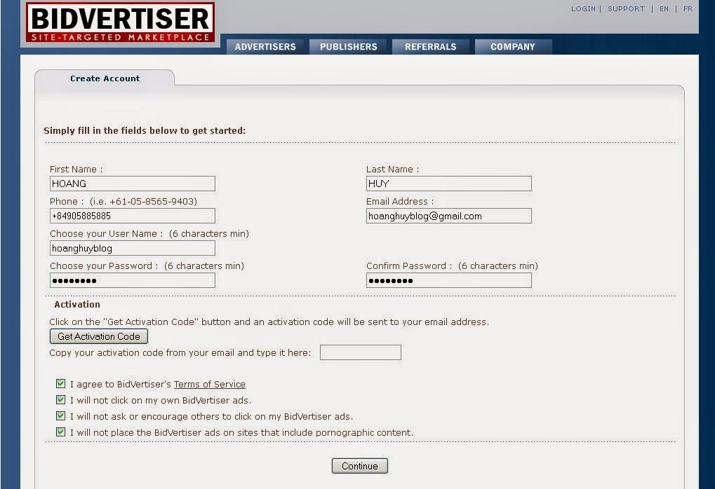 Kiếm tiền trên mạng: Đăng quảng cáo trên website