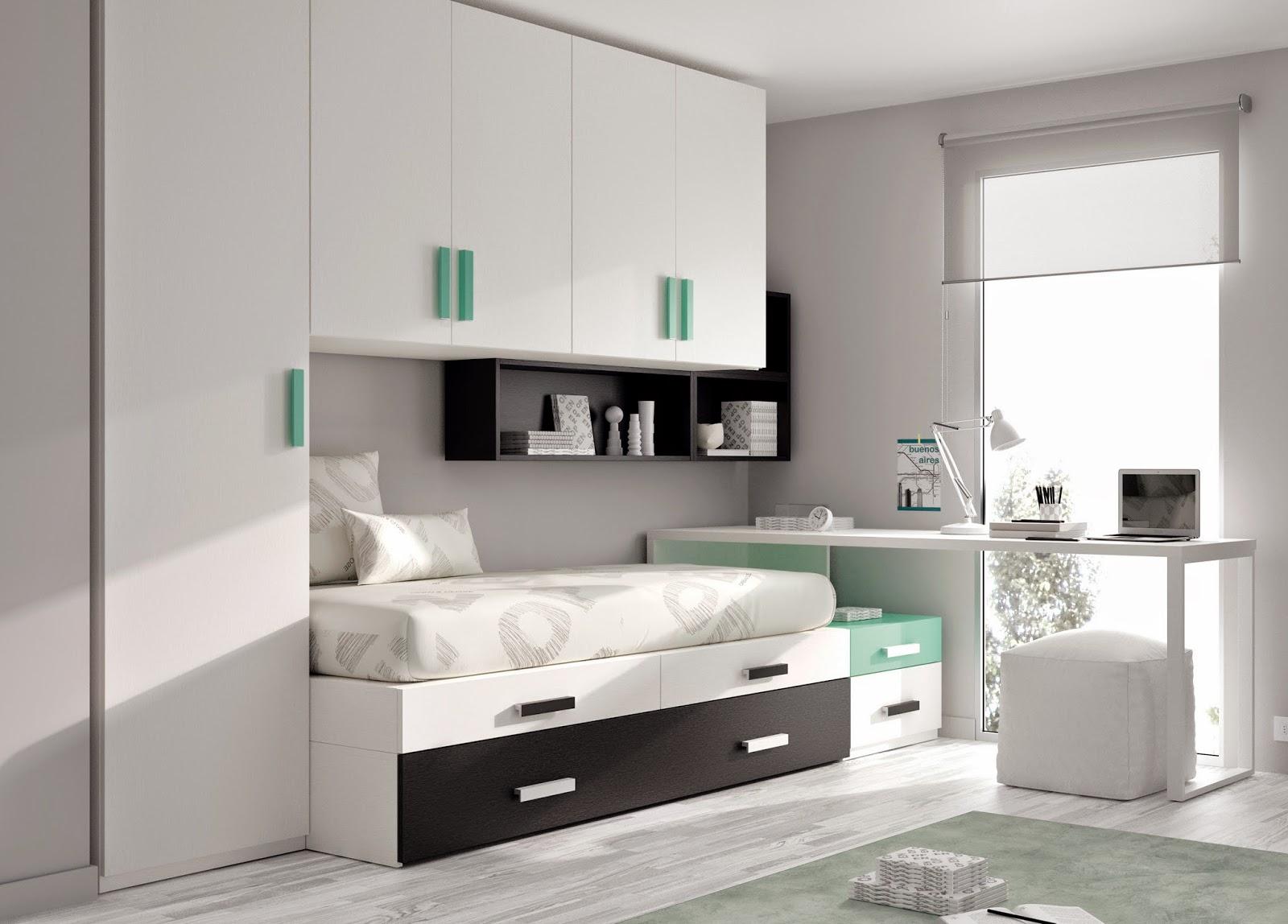 Camere da letto di mobili ros for Cama puente con escritorio