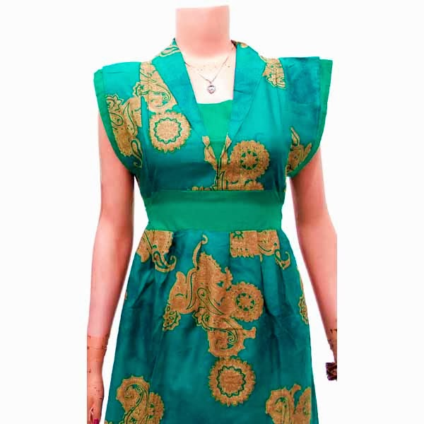 DB3702 Mode Baju Dress Batik Modern Terbaru 2014