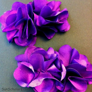 Simple DIY Flower Hair Clips