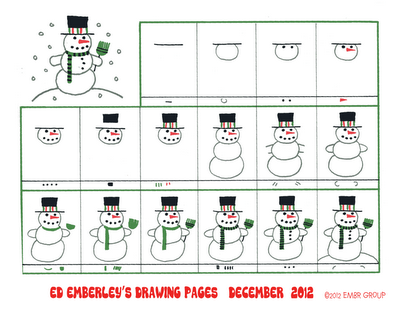 Ed Emberley's Snowman Drawing Page