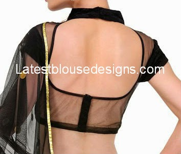 transparent back blouse