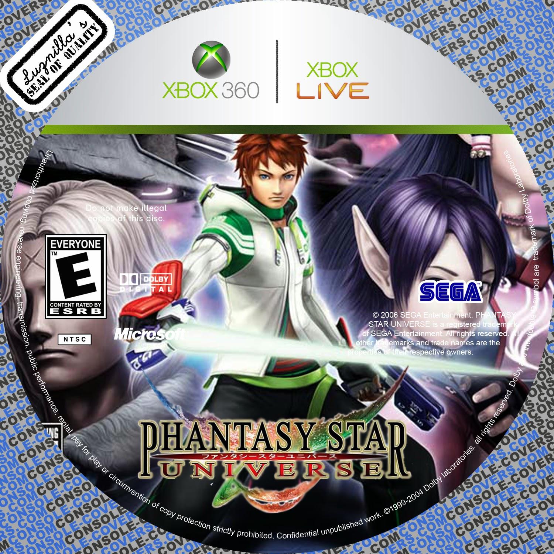 Capa Phantasy Star Universe XBOX 360