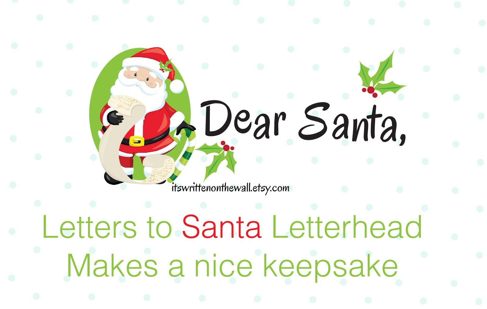 Christmas Letterhead: Letters to Santa Claus