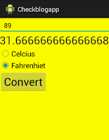 Temperature conversion application in Android