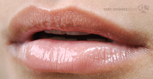 NYX Mega Shine Lip Gloss in 'Smokey Look' applied on NC30 skin tone