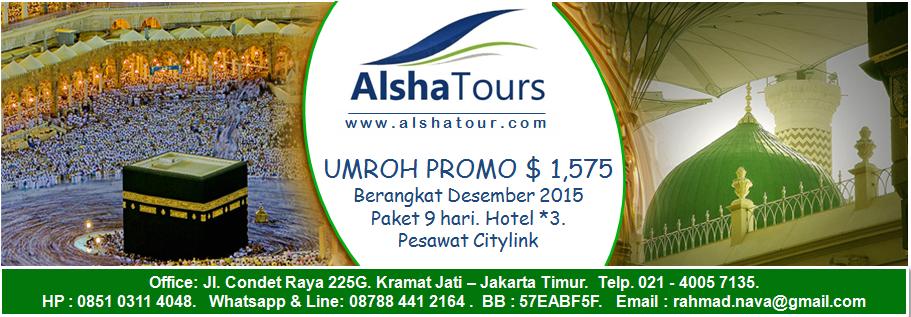 ALSHA TOUR Paket Umroh Murah dan Hemat 2015  $1575