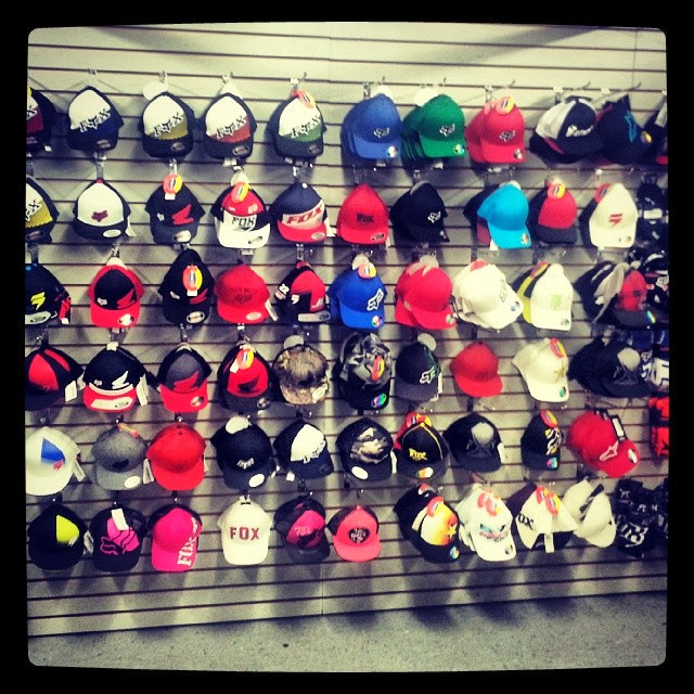 Click here to see some of our Fox Racing hats. Come to the store to see em all!