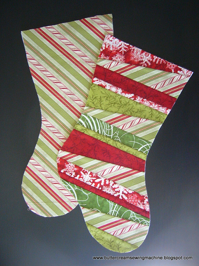 Buttercream and a Sewing Machine: Tutorial: Christmas Stocking