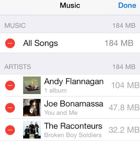 delete iphone music