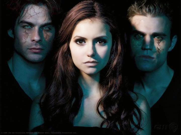 What A Triangle - Elina, Demon And Stefan - The Vampire Diaries