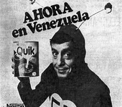 Propaganda do achocolatado Quik em 1978 com Chapolin Colorado.