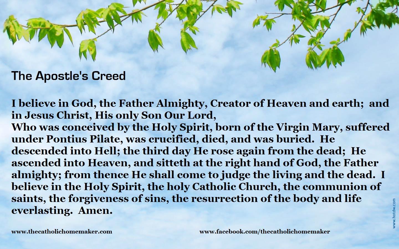 roman catholic apostle creed prayer Quotes