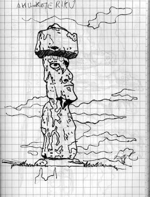 Urban Sketchers Spain. El mundo dibujo a dibujo.: Moais y más moais