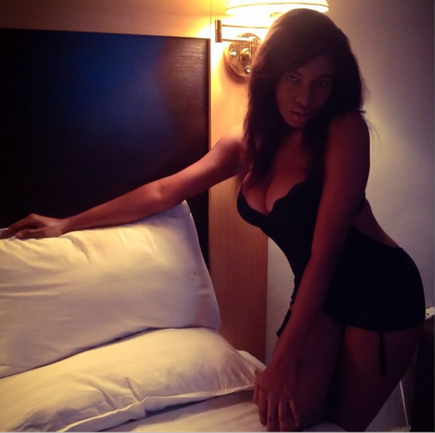 Wow chika ike shares sexy bedroom pic nigeria news for Hot bedroom photos